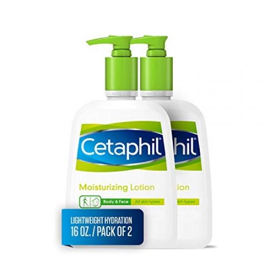 كريم مرطب (عدد 2 بسعر خاص) للجسم والوجه من ماركة سيتافيل CETAPHIL حجم 453 جم